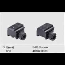 Recknagel Tip-off rings for Steyr SSG 69, Schmidt & Bender Convex rail