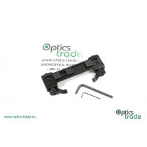Recknagel One-piece tip-off mount for Picatinny, Swarovski SR rail, lever - 90 mm