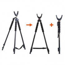 Vanguard QUEST T62U Portable Shooting Tripod, Bipod, and Monopod Combo with U-Shaped Yoke