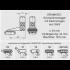 ERAMATIC Swing (Pivot) mount, Brunner Prisma 19,5 mm, 34.0 mm