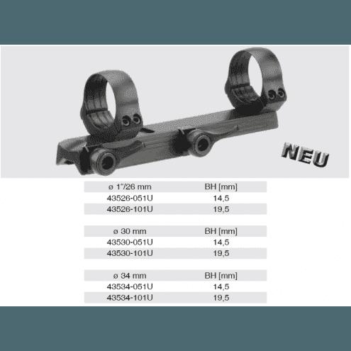Recknagel Tip-off Mount for Merkel KR1, B3 & B4, 34mm