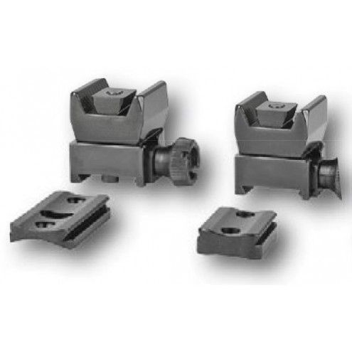 EAW Roll-off Mounts with foot plates, Zeiss ZM/VM rail, KR 0 mm