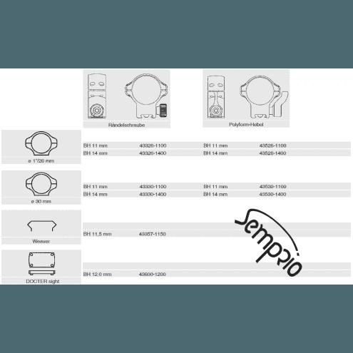 Recknagel Tip-off rings for Krieghoff - Semprio, 26mm