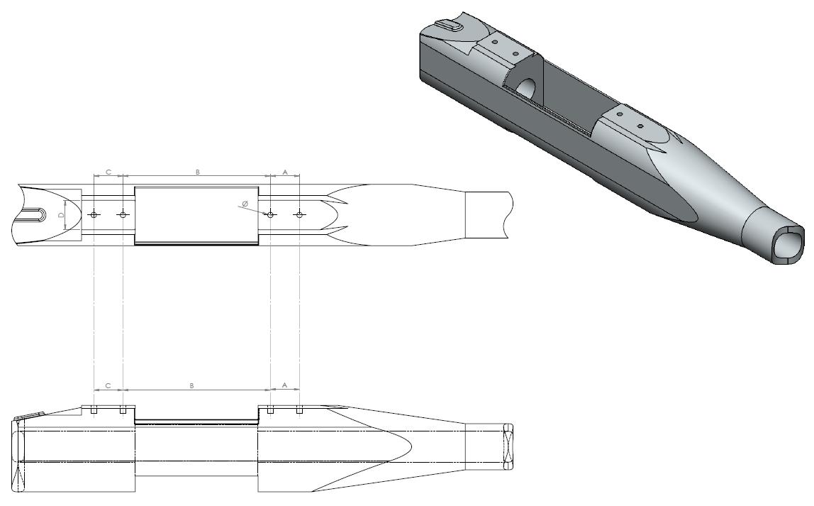 Beretta S689 Silver Sable II Receiver