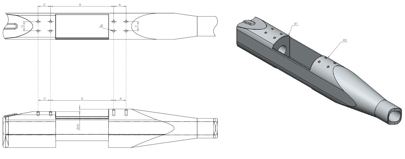 ERA-TAC picatinny rail - FN Browning X-Bolt super short