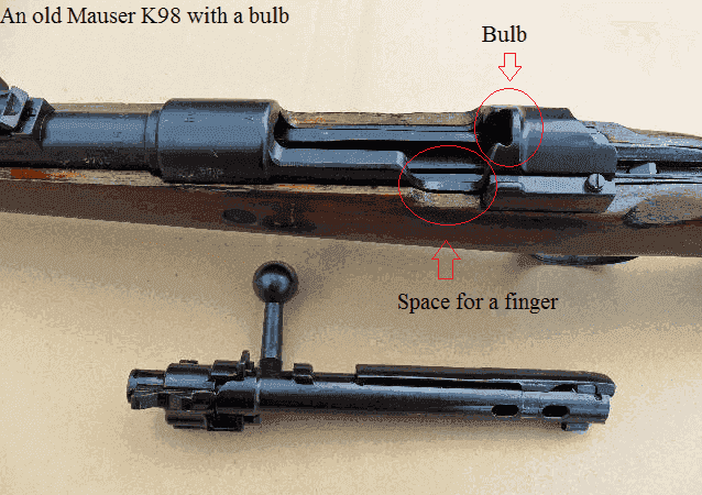 An older version of Mauser K98 (with bulb)