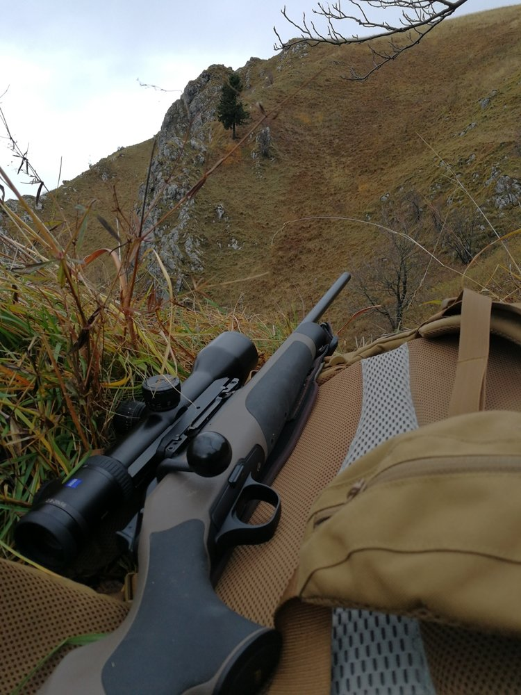 A riflescope is an important piece of equipment when hunting in the mountains