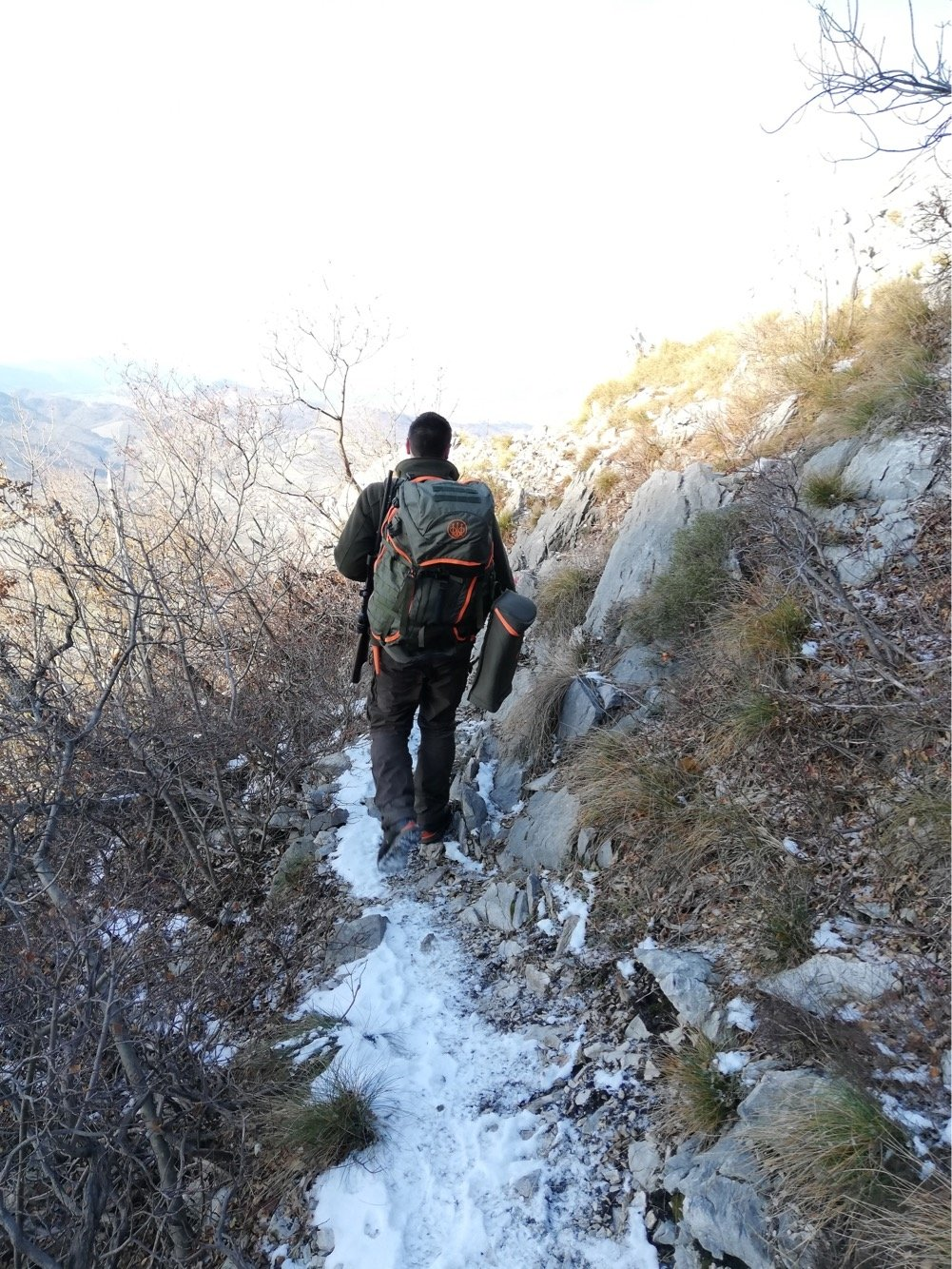 It is important not to carry to much weight when going on a mountain hunt